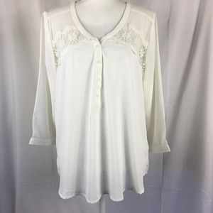 American Eagle Outfitters lace blouse  size XL NEW